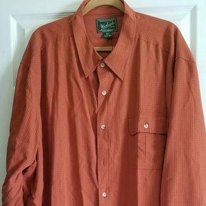 Woolrich Mens 4XLt shirt wovern button down shirt